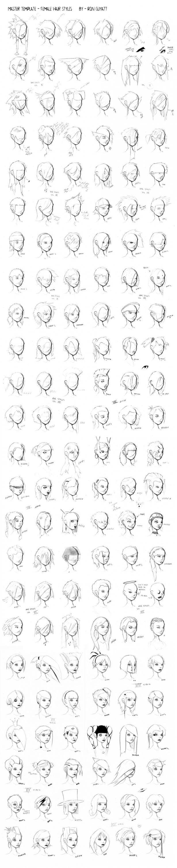 Референсы причёсок