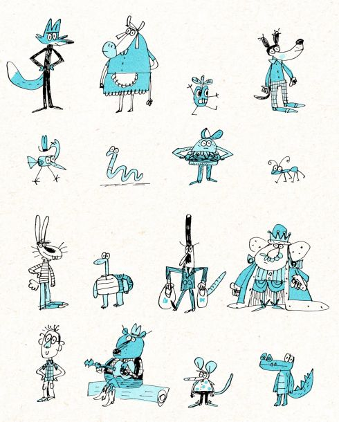 doodle characters